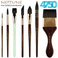 Neptune Watercolor Brushes