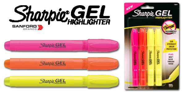 Sharpie Highlighters Assorted Fluorescent 4 Pack 25174 Lot of 2